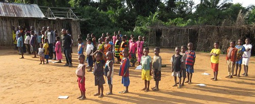 school and students in Yalombe