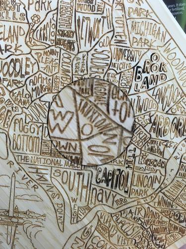 Truxton Circle on DC Cutting Board