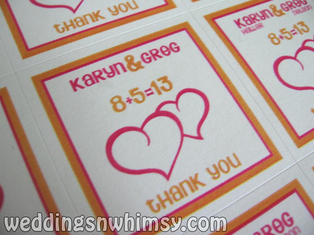 Custom Orange And Hot Pink Double Hearts Wedding Favor Lab Flickr