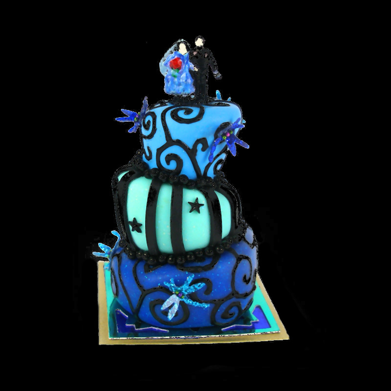 nightmare before christmas wedding cake by dollhouse kitchen