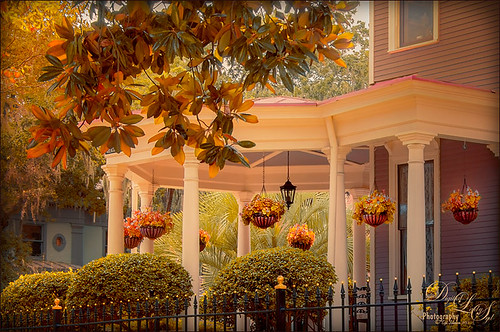 Image of beautiful porch in Savannah, Georgia