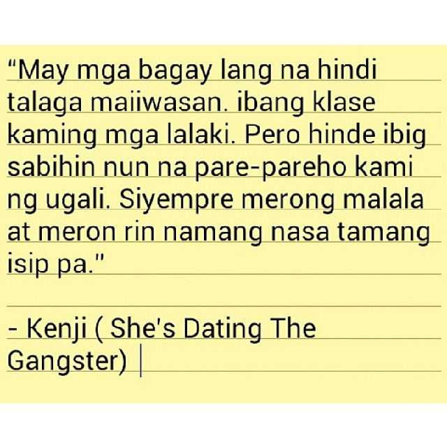 Shes dating the gangster quotes and sayings