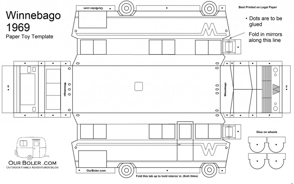 Paper Toy Template Winnebago Motorhome 69 Exterior 1024x642