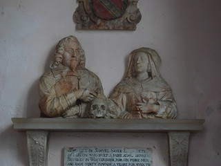 Samuel and Thomasina Sayer 'who built a faire almes house at Bewdley in Worstershier for six poore men and gave thirty powndes a yeare for ever'