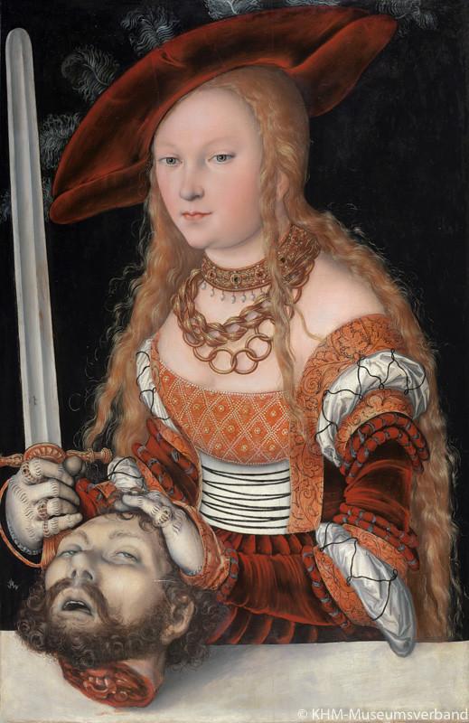 ルカス・クラーナハ(父)《ホロフェルネスの首を持つユディト》(1525/30年頃、ウィーン美術史美術館蔵)