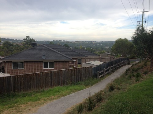 View across Lilydale from Lilydale-Warburton Rail Trail