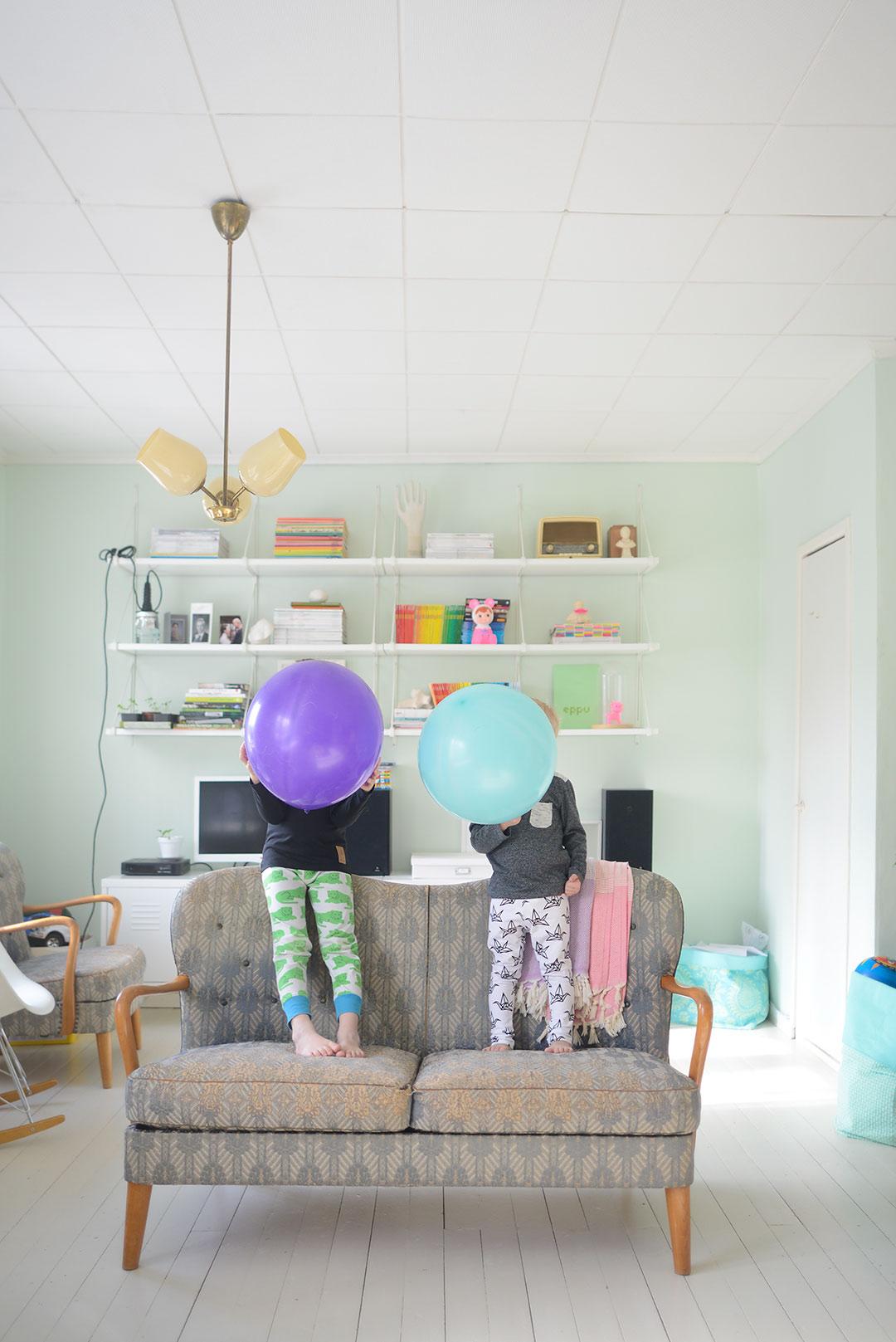 Balloon party and YO ZEN kids wear