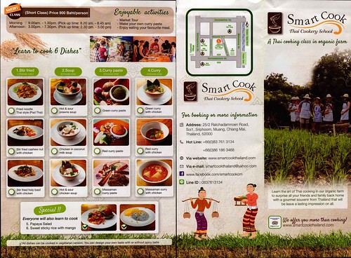 Brochure Smart Cook Thai Cookery School Chiang Mai Thailand 1