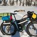 Drop bags bike selfie