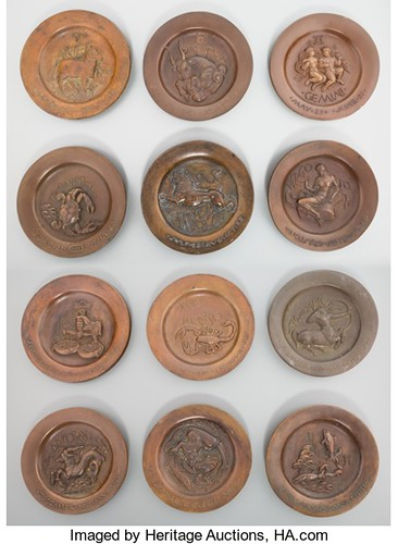 COMPLETE SET OF MANSHIP ASHTRAY MEDALS OFFERED