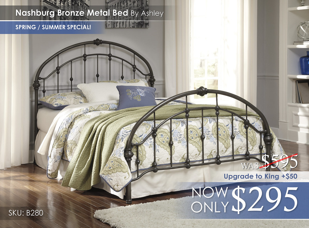 Nashburg Bronze Metal Bed B280-181