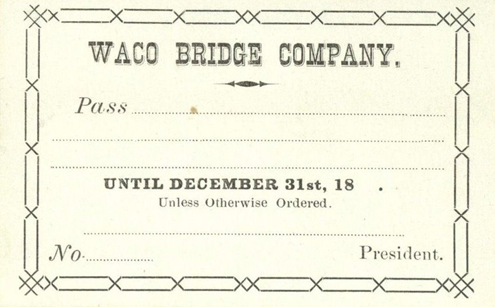 Waco Suspension Bridge Pass