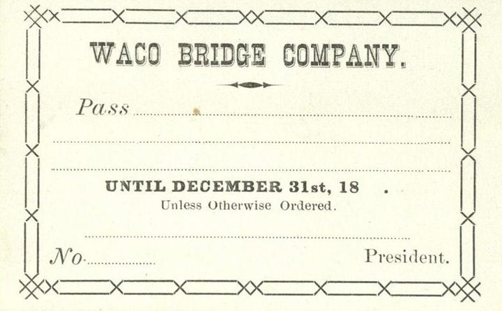 Waco Suspension Bridge Pass