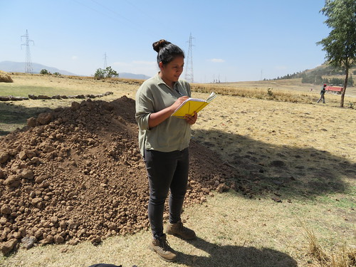 Taking notes in the field, Melanie Rekha Ramasawmy