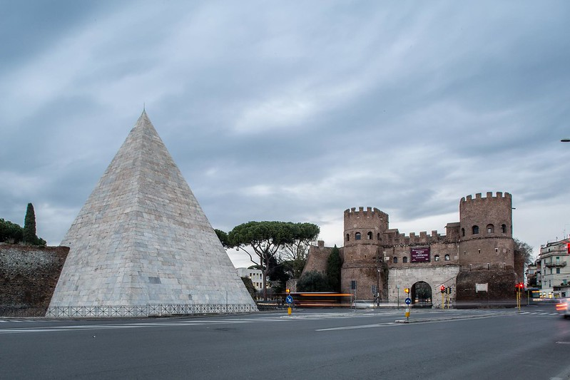 White Pyramid in Rome, ITALY