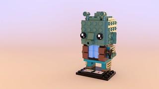 Updated Greedo Brickheadz by Will Kirkby, rendered by Steven Reid