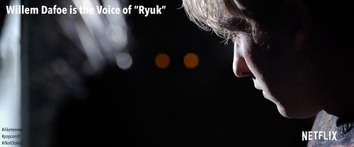"Willem Dafoe is voice of Ryuk in ""Death Note"""