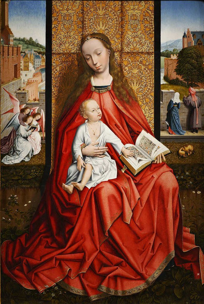 Master of the Embroidered Foliage - The Virgin and Child Enthroned, c. 1500