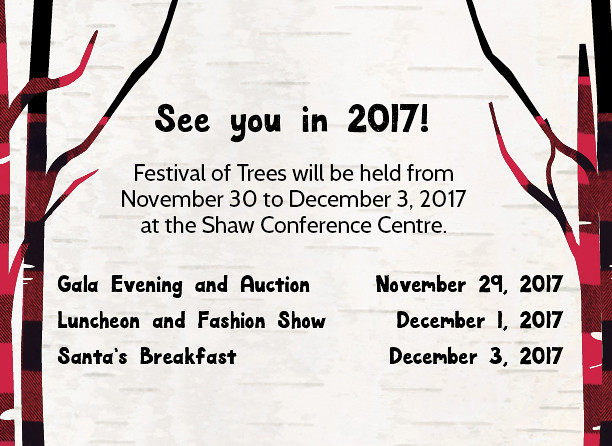 2016 Festival of Trees homepage