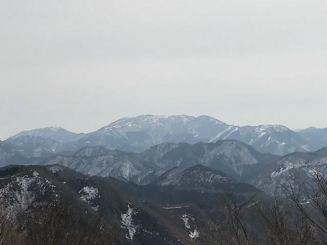霊仙山 今畑ルート 西南尾根より御池岳