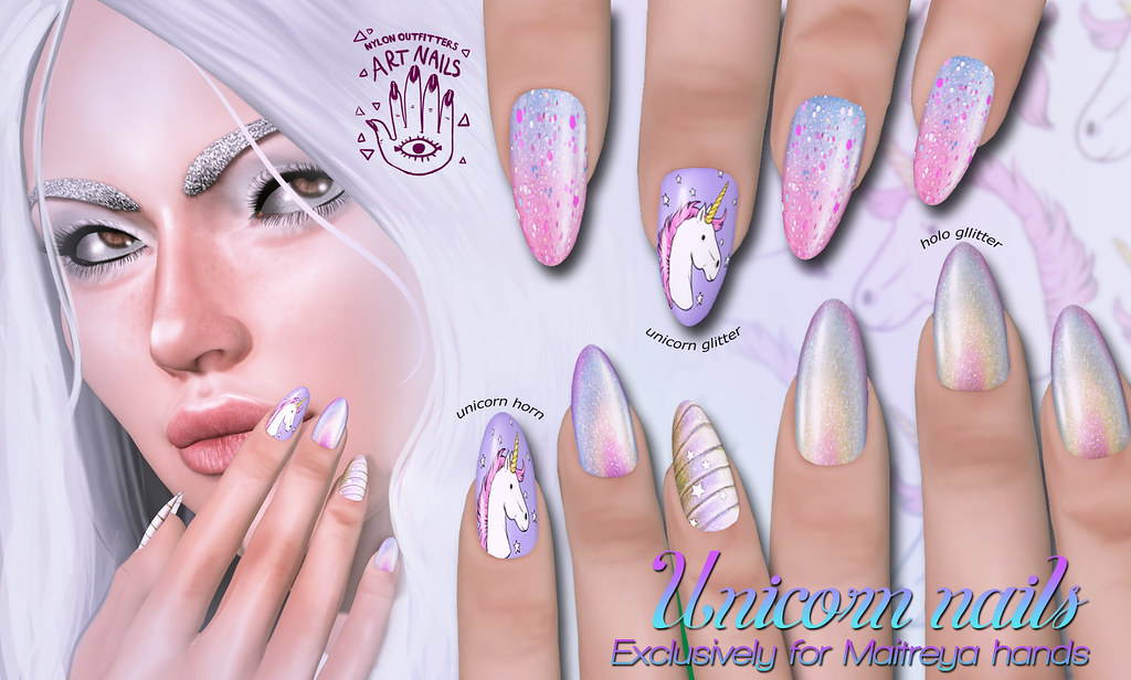 Unicorn Nails For Maitreya Hands