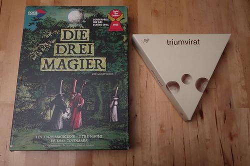 """Brettspiel """"Die Drei Magier"""" und Taktikspiel """"Triumvirat"""""""