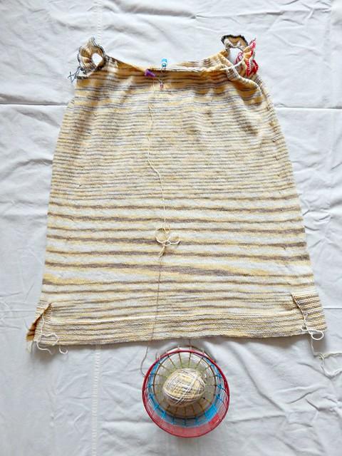 Вяжу полосатый свитер из хлопковой пряжи | Knitting a striped sweater with cotton yarn | horoshogromko.ru