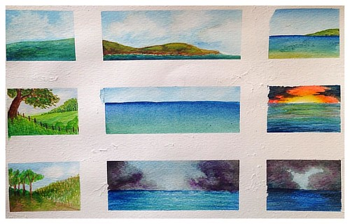 Mini landscapes . #watercolour #watercolours #painting #landscape