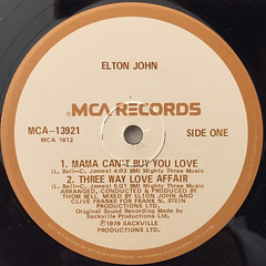 ELTON JOHN:THOM BELL SESSION(LABEL SIDE-A)