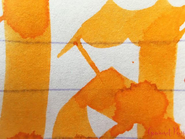 Ink Shot Review Diamine Flowers Marigold @AppelboomLaren 7