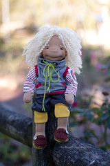 Rafael - 16 inch Natural Fiber Art Doll by Down Under Waldorfs