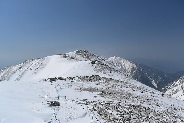極楽平から空木岳方面の稜線