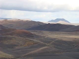 148 Explosiekrater Hverfell Uitzicht in noordelijke richting