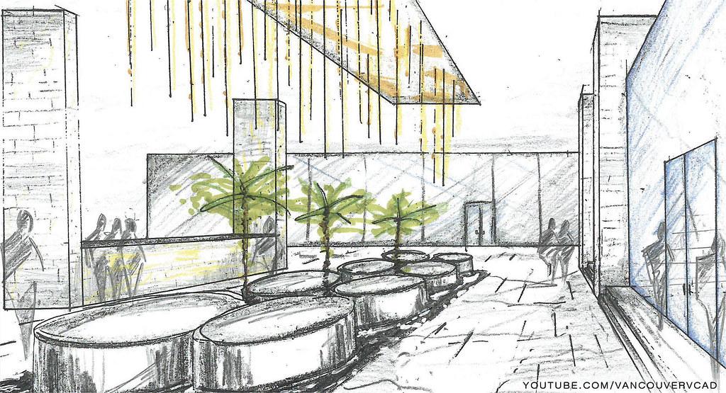 Colored Pencils – Architectural Renderings & Sketches  |Interior Design Color Sketches