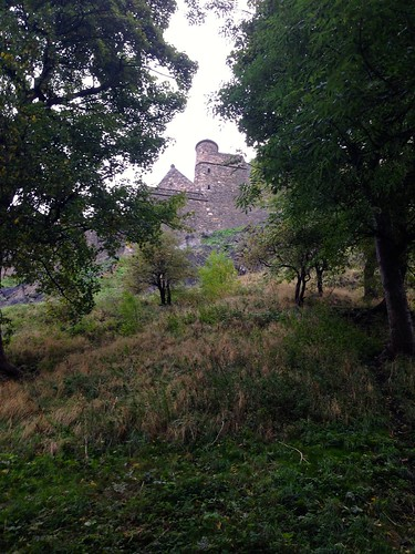 Edinburgh Castle through trees | by knitahedron