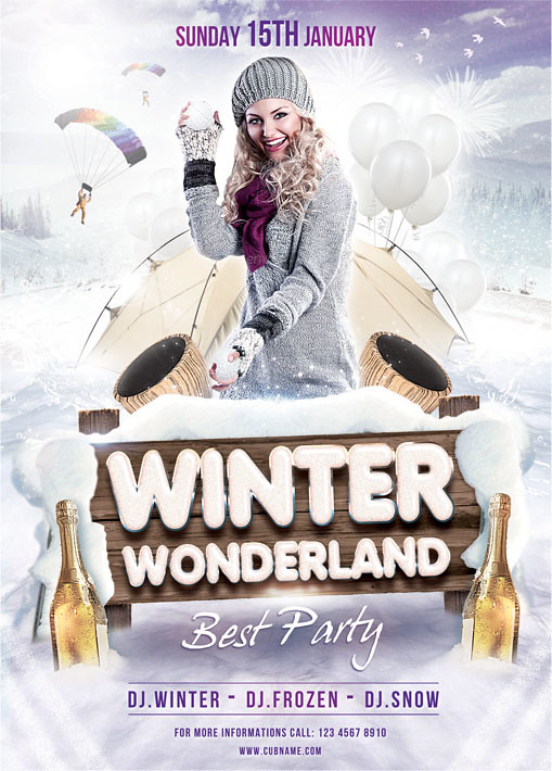 Winter Wonderland Flyer Template | You can DOWNLOAD the PSD ...
