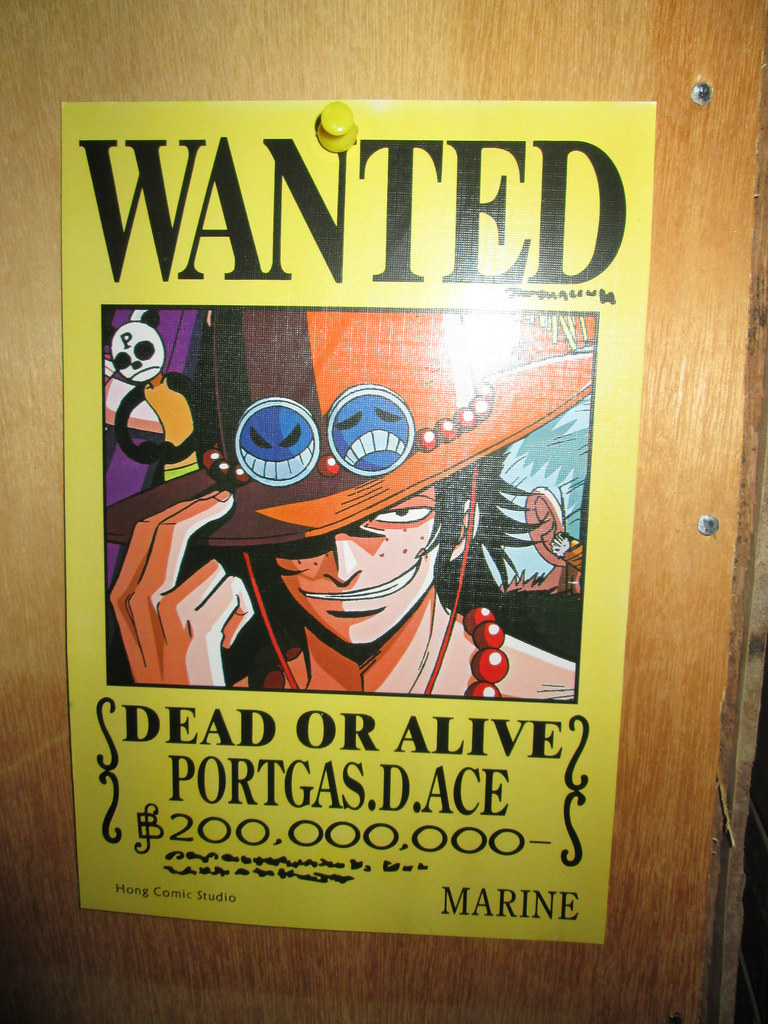 Portgas D. Ace wanted poster | One Piece | Monkey D. Luffy ...