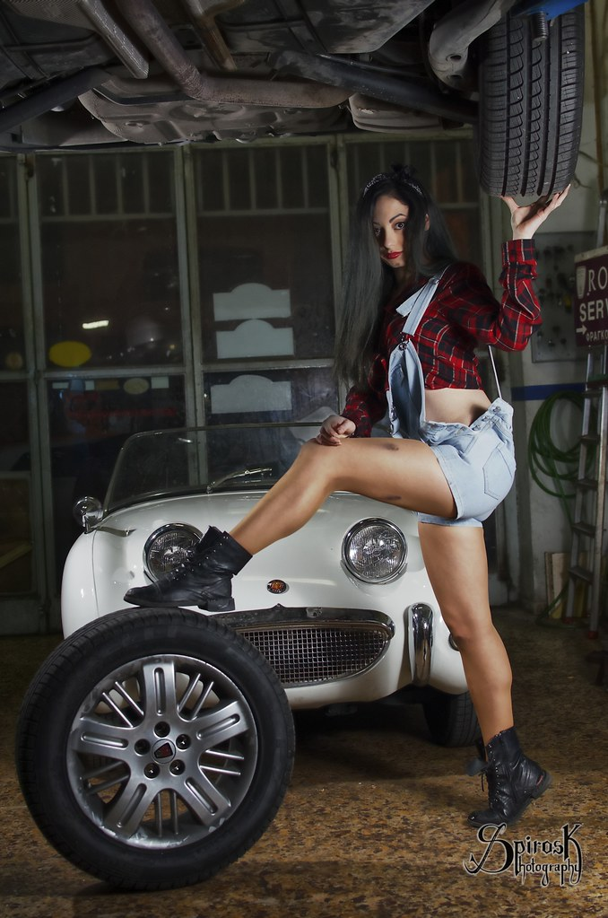 Vintage Car Mechanic Pinup ft. Loukia | You can find Loukia … | Flickr