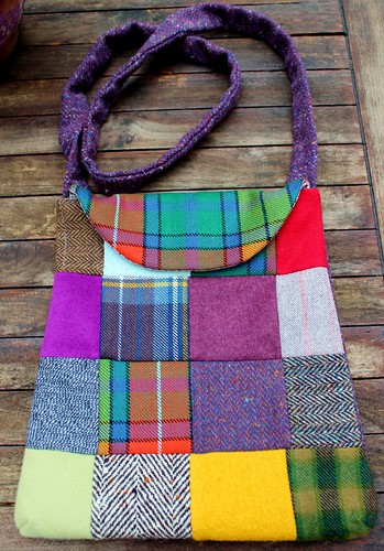 Sac besace en patchwork de lainages | by chabronico