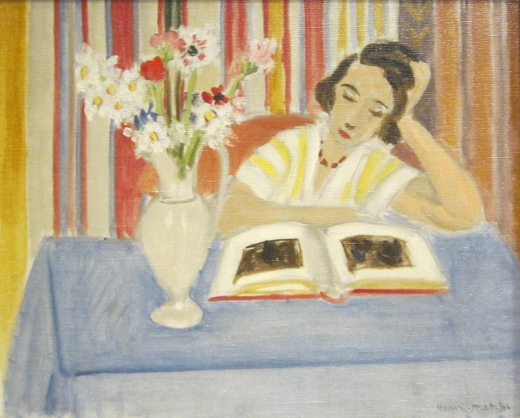 Henri Matisse Girl Reading Vase Of Flowers 1922 Flickr