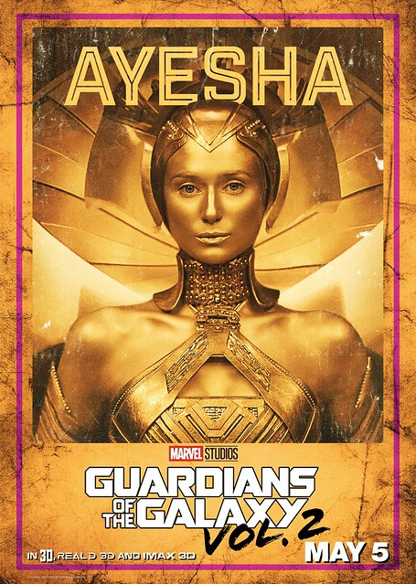 Guardians of the Galaxy Vol 2 (2017) poster Ayesha