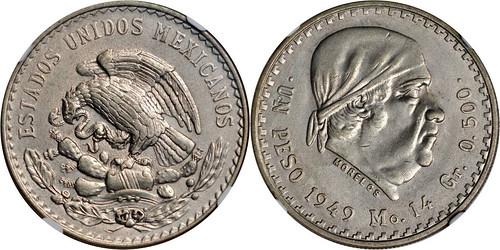 1949 - Mexico_1949_peso_rev_Ponterio_169-11405a