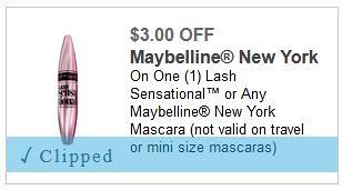Free Maybelline Mascara