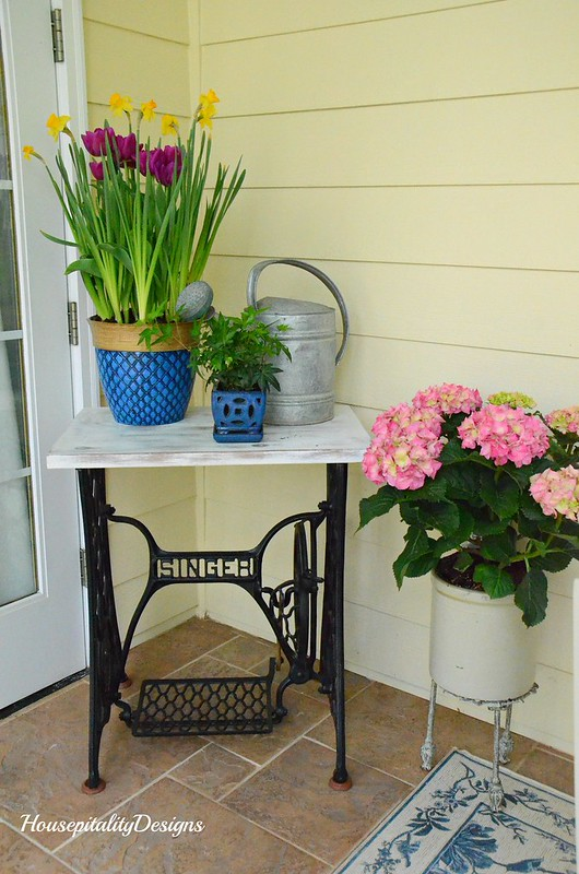 Vintage Singer Sewing Table-Spring Porch-Housepitality Designs