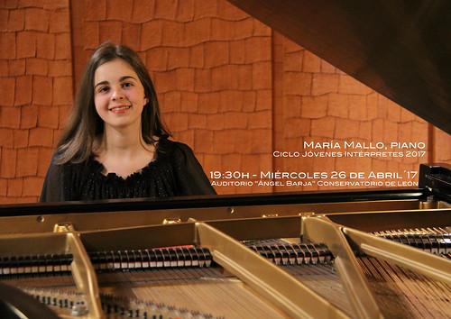 MARÍA MALLO, PIANO - CICLO JÓVENES INTÉRPRETES DEL CONSERVATORIO DE LEÓN 2017