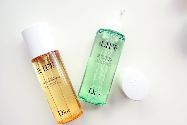 Dior Hydra LIFE Oil to Milk Makeup Removing Cleanser, Lotion to Foam Fresh Cleanser, Extra Plump Smooth Balm Mask, and Fresh Hydration Sorbet Creme review