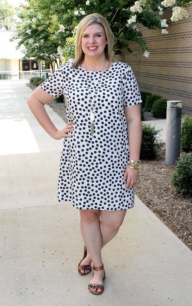 polka dot tee dress 2