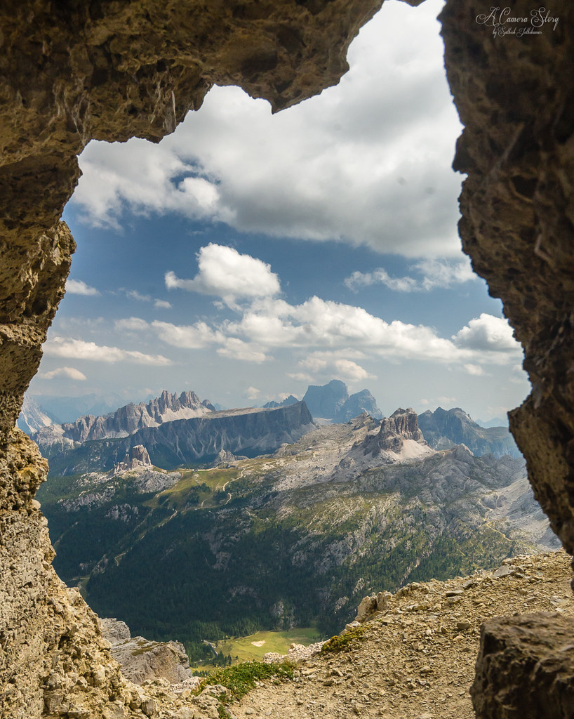 The Dolomites through the windows of the southern Alps in Italy. Photo by Sathish J. [OS] [1022 x 1280].