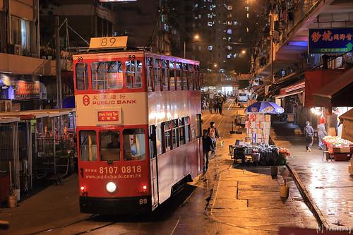 Tram in Chun Yeung Street