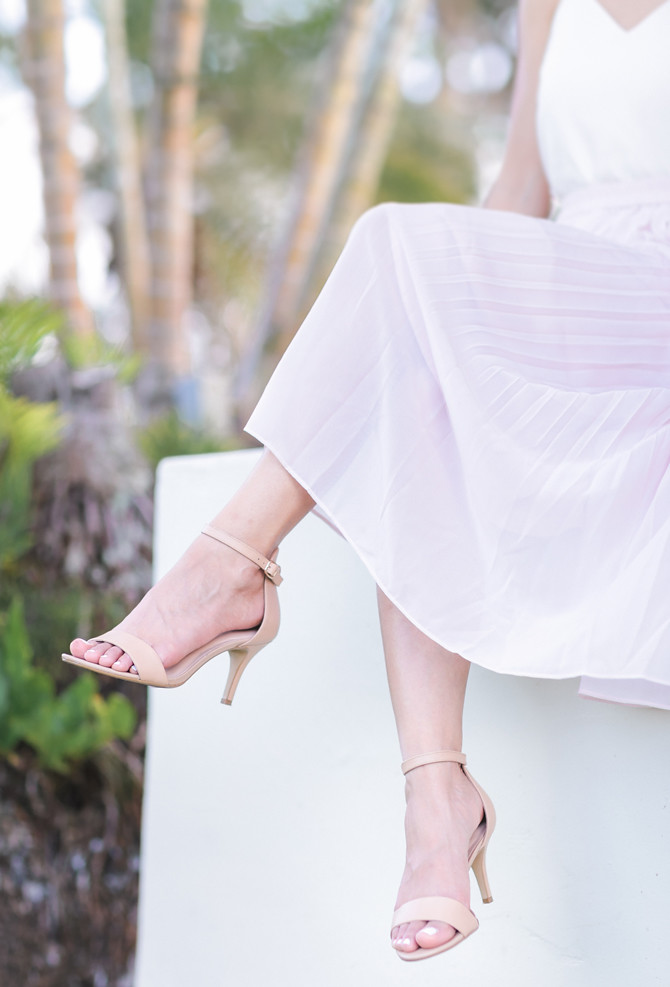 DSW affordable nude beige dressy sandals